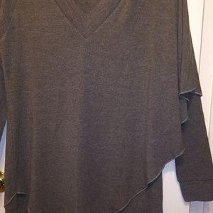 Soft surroundings womens sweater asymmetrical cut